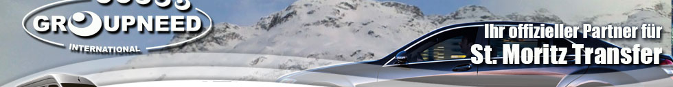 Transfer nach St. Moritz mit Limousine / Bus / Helikopter